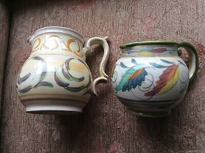 Vintage Glyn Colledge Round Bellied Jugs Leaves, Scrolls, Signed V/g • 0.99£