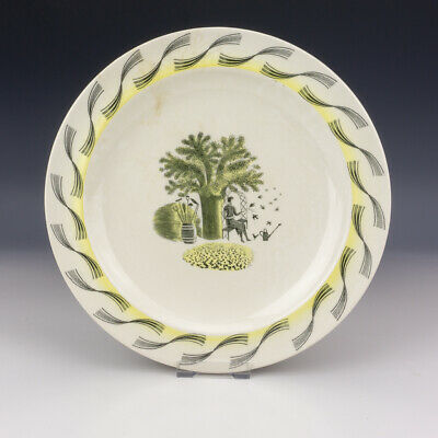 Wedgwood Pottery Eric Ravilious Garden Pattern Plate - Art Deco! • 0.99£