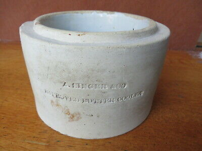 Mid 19th Century ,london Tin-glaze Butter Cooler Alfred Singer ,vauxhall Pottery • 95£