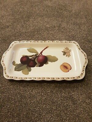 The Royal Horticultural Society Queens Hookers Fruit Rectangular Tray Dish  • 6.99£