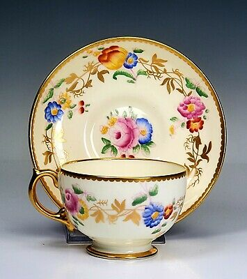 Hammersley Porcelain Floral Gold Cup And Saucer • 55.22£
