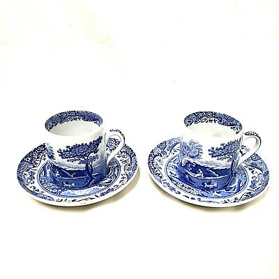 2 X Vintage Spode Coffee Can (Cup) & Saucer • 18.99£