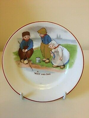 Paragon Nursery Plate - Dutch Children Fishing • 25£