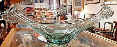 Fabulous Mid Century French Art Glass  Wave  Table Centre • 95£