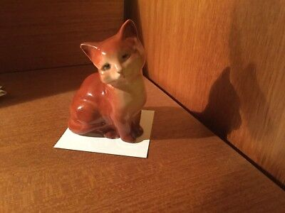 Beswick Ginger Cat Seated 1436 • 15£
