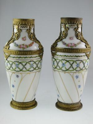 Antique 19th Century French Porcelain Ormolu Vases • 1,200£