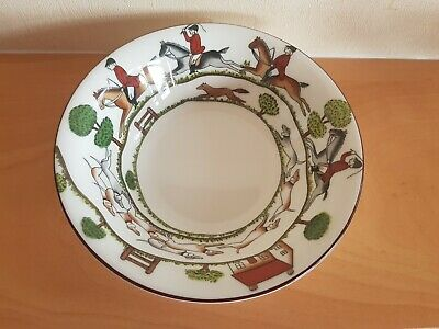 Crown Staffordshire Hunting Scene Cereal Bowl  • 19.99£
