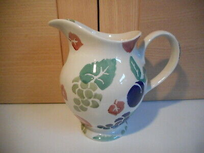 Royal Winton Tradition Bordeaux Grapes & Plumbs Hand Decorated Spongeware Jug • 20£