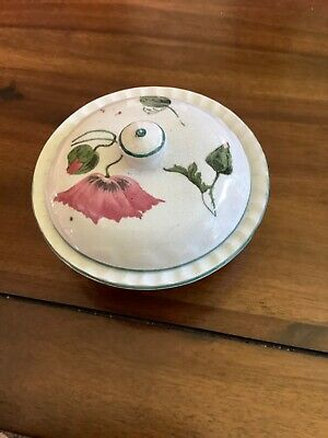 Antique Wemyss? Scottish Pottery Ware Soap Dish Unmarked Poppies • 25£