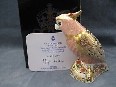 Royal Crown Derby  Pink Cockatoo Paperweight Original  Limited Edition  • 99£