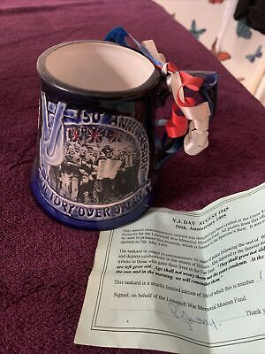 Great Yarmouth Pottery VJ Day 50th Anniversary With Authentication • 5£