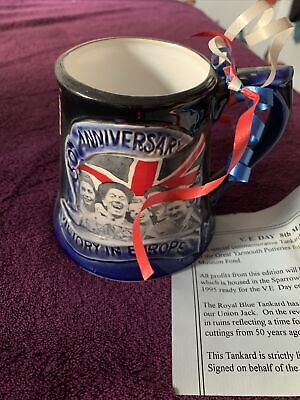 Great Yarmouth Pottery VE Day 50th Anniversary Mug With Certificate • 5£