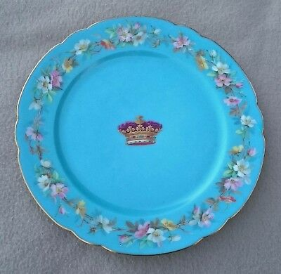 Antique Paris Boyer Armorial Porcelain Plate Royalty Portugal House Of Braganza • 200£