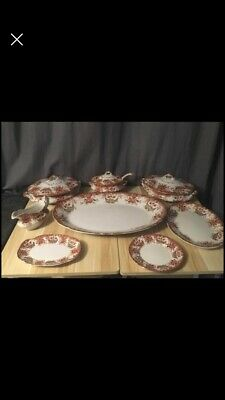 Antique Large Dinner Service Tureen Ladle Meat Plate Etc  • 49.99£