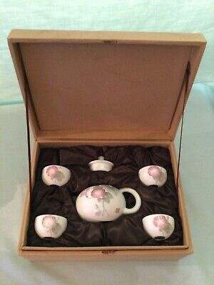 Boxed Jin Huang Chinese Tea Ceremony Set - Teapot And 4 Cups.  • 8£