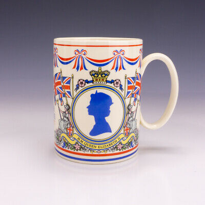 Wedgwood Pottery - Queens Ware - Royal Silver Jubilee Commemorative Tankard • 19.99£