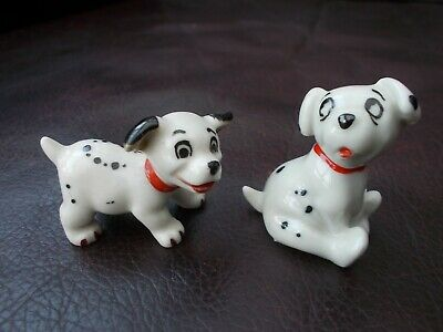 Vintage Wade Disney Porcelain Figures Excellent!! , Rolly & Lucky 101 Delmations • 7.50£
