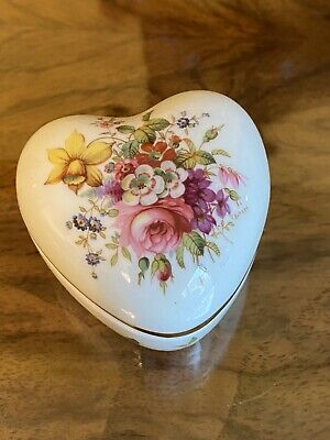 Hammersley Fine Bone China Heart Trinket Box  • 1.50£