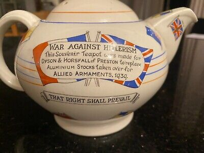 Crown Ducal Collectable War Against Hitlerism Teapot  • 20£