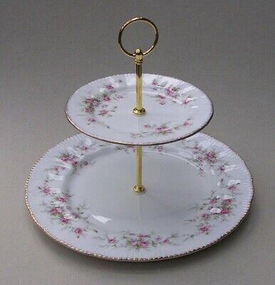 Paragon - Victoriana Rose - Two Tier Cake Stand • 12£