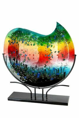 GIGANTIC 49.5cm Amazing Art Glass Deep Outer Space Abstract Vase On Stand  • 87£