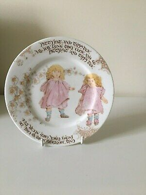 Foley China Nursery Plate - Pitty Pat And Tippy Toe • 45£