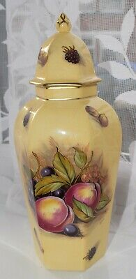 Aynsley Orchard Gold 9  Temple Or Ginger Jar & Lid • 30£