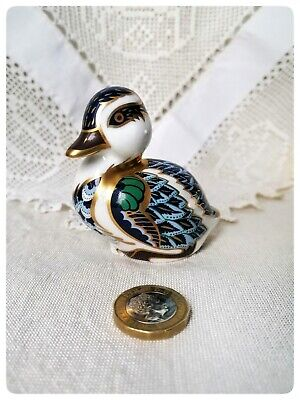 Royal Crown Derby Sitting Duckling Paperweight Gold Stopper. EXCELLENT CONDITION • 15£