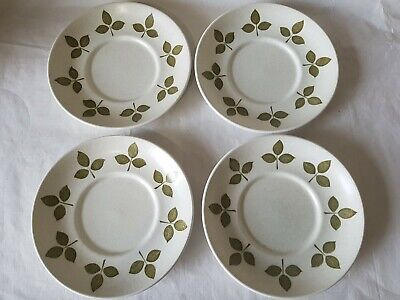 RETRO J&G MEAKIN TULIP TIME SAUCERS  X 4 • 12.99£
