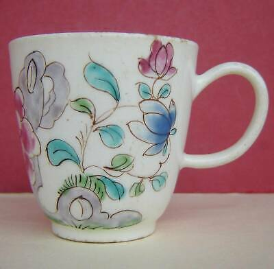 Bow Porcelain Coffee Cup Floral C1760 • 50£