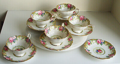 Vintage Paragon By App To H.M.The Queen& H.M. Queen Mary 5 X Cup & 6 X Saucer • 74.99£