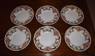"""6 Antique John Maddock And Sons """" Bombay Pattern """" Dishes 10"""" Diam. Circa 1896+. • 5£"""