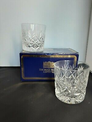 Pair Of Thomas Webb Whiskey Tumblers.. Worcester Design • 39£