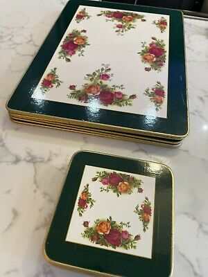 Six Old Country Roses Royal Albert Placemats & 6 Coasters • 4.50£