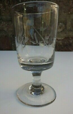 Antique Rummer. With Striations & Engraving • 14.95£