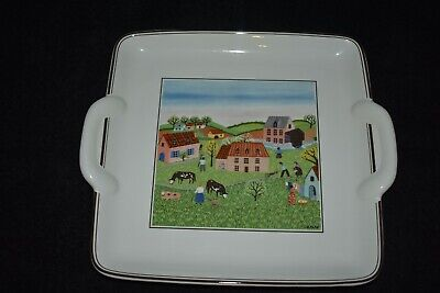 Villeroy & Boch Design Naif Country Scene Square Handled Serving Dish 22.5 Cm • 5.50£
