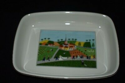 Villeroy And Boch Design Naif Village Wedding Scene Rectangle Baking Dish 28.5cm • 7£