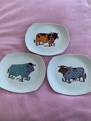 BEEFEATER PLATES X 3 ENGLISH IRONSTONE OLD 11  X 9½  Good • 9.99£