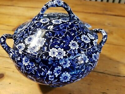 Burgess And Leigh Blue Calico SauceTureen • 27£