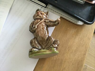 """Large Wade Nursery Rhyme Figure Cat And The Fiddle 2"""" Tall  • 5£"""