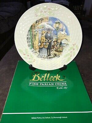 Belleek Bearing The Gifts Holiday Scenes In Ireland Very Limited Edition Plate  • 7£