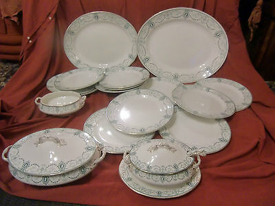John Maddock & Sons Royal Vitreous 'Cameo' 21 Piece Dinner Service Circa 1912 • 325£