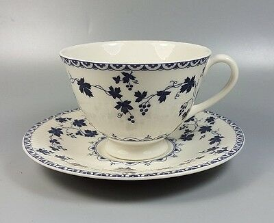 Royal Doulton Yorktown (ribbed) Tc1013 Tea / Breakfast Cup And Saucer (perfect) • 9.99£