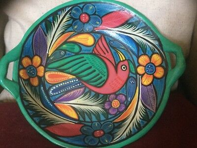 Superb Ceramic Bowl Bird Of Paradise Within A Fantasy Foliate Colourful Setting • 28£