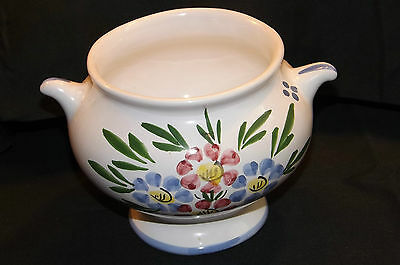 Eared Hand Painted China Sugar Bowl Or Dish Studio Initalled LR • 7.50£