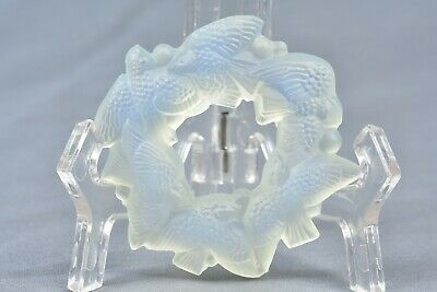 Sabino Opalescent Crystal 1920-30 Ring Of Birds Napkin Ring • 69.98£