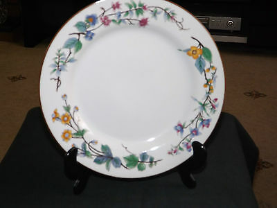 WOODHILL SALAD / DESERT PLATE  WITH A FLORAL PATTERN. INDONESIA. Excellent • 11.25£