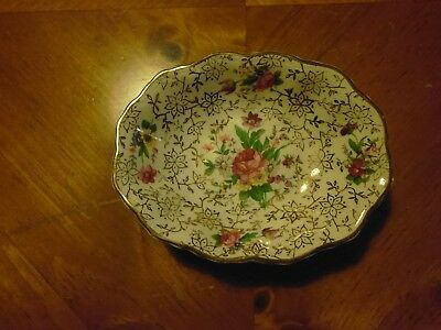 Small Semi Porcelain Midwinter Chintz Dish - Excellent Condition • 4.99£