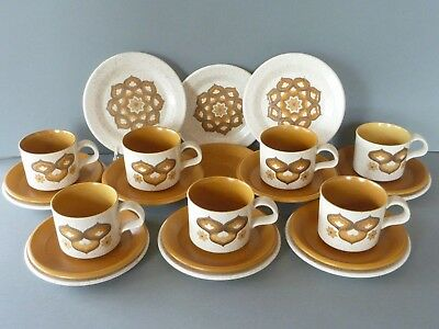 Retro Mid Century Royal Worcester Palissy Kalabar Trios: Cup, Saucer, Side Plate • 28£