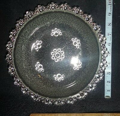 Vintage Pressed Glass Bowl .Clear With Bubble Pattern.  • 7.99£
